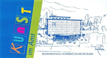 Einladungskarte mit Logo Kunst im Amt