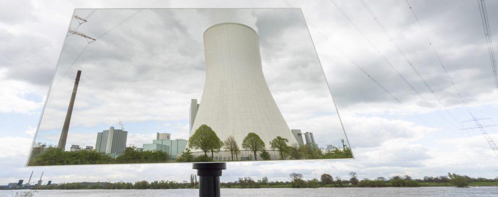 Serie Spiegelbilder - Kraftwerk Walsum vs. Rheinaue