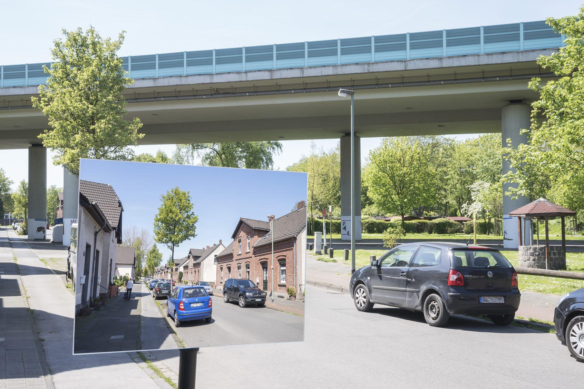 Lohstraße/Brücke A 59 • Lambda-Print auf FUJIFILM Crystal Archive DPII, 75 x 50 cm, rahmenloser Bilderhalter • Auflage: 5 + 2 Artist's Proof